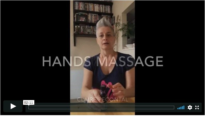 hands massage claire