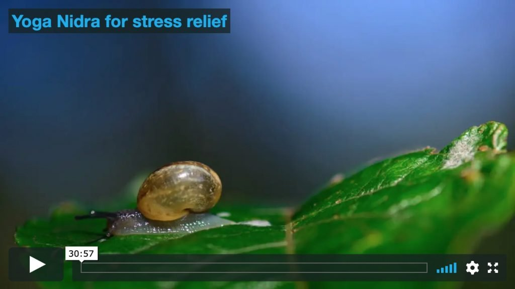 Yoga nidra for stress relief
